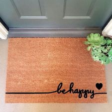 Be Happy Doormat - $45 // Holiday Gift Guide Under $100