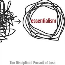 Essentialism: The Disciplined Pursuit of Less - $14 // Holiday Gift Guide Under $100