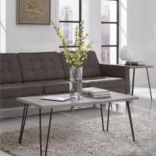 Chic Gray Coffee Table - $60 // Holiday Gift Guide Under $100